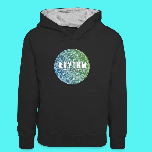 Rhythm On The Run Logo - Kids' Contrast Hoodie