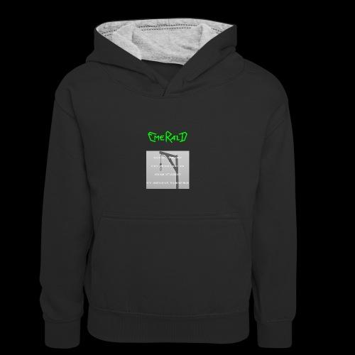 Emerald - Kinder Kontrast-Hoodie
