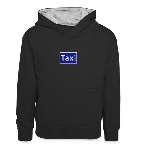 Taxi - Kontrast-hettegenser for barn