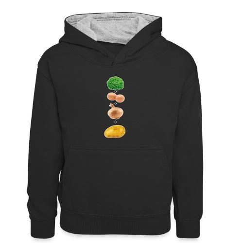 Slaoi Meej Aai Meej Juin Meej Èèrrepel - Teenager contrast-hoodie/kinderen contrast-hoodie