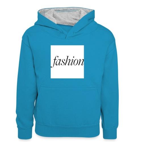 fashion - Teenager contrast-hoodie/kinderen contrast-hoodie