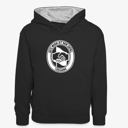 Logo Troihand invertiert - Kinder Kontrast-Hoodie
