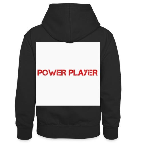 Linea power player - Felpa con cappuccio in contrasto cromatico per bambini