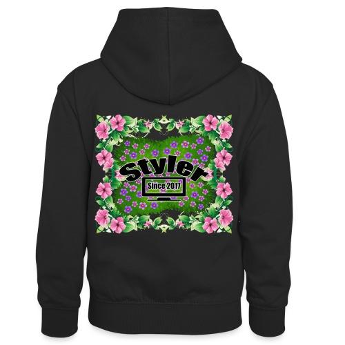 Styler Bloemen Design - Teenager contrast-hoodie/kinderen contrast-hoodie