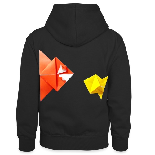 Origami Piranha and Fish - Fish - Pesce - Peixe - Kids' Contrast Hoodie