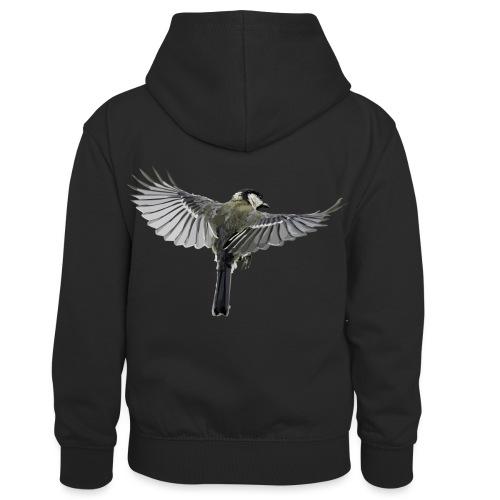 Vogel - Kinder Kontrast-Hoodie