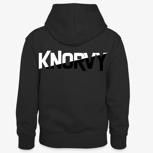 KNORVY - Teenager contrast-hoodie/kinderen contrast-hoodie