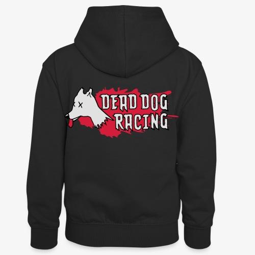Dead dog racing logo - Kids' Contrast Hoodie