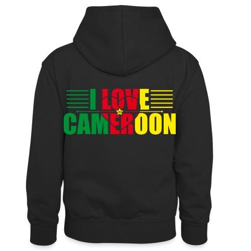 love cameroun - Sweat à capuche contrasté Enfant