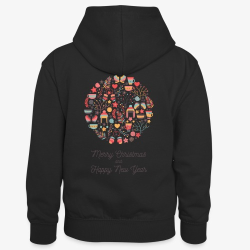 Merry Christmas and Happy New Year - Kids' Contrast Hoodie