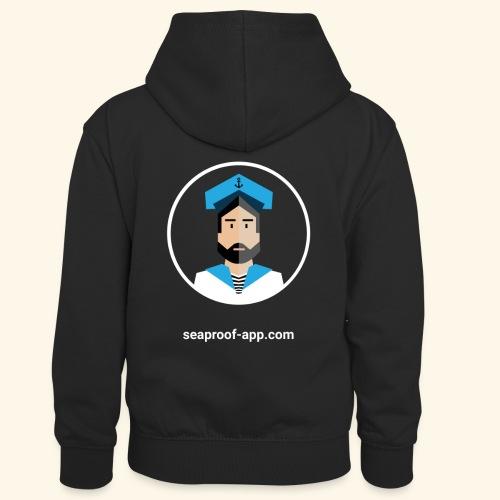 SeaProof App - Kinder Kontrast-Hoodie
