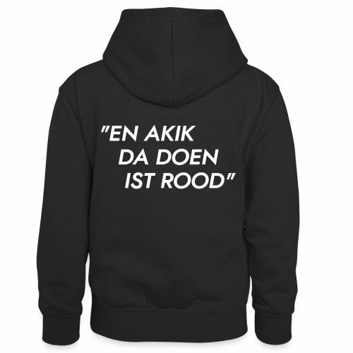 Akik da doen ist rood - Teenager contrast-hoodie/kinderen contrast-hoodie