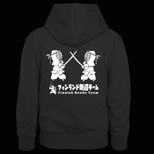 fka team logo white - Lasten kontrastivärinen huppari