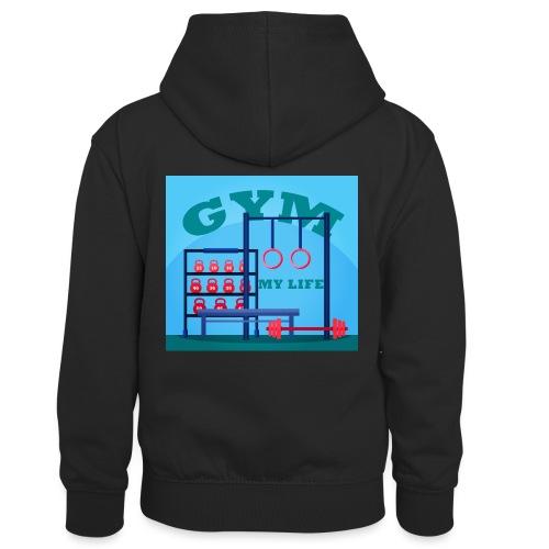 GYM - Lasten kontrastivärinen huppari