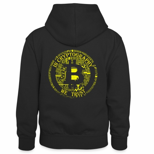 In cryptography we trust 2 - Kids' Contrast Hoodie