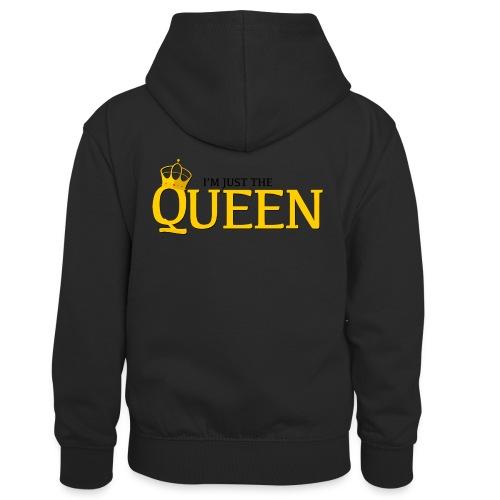 I'm just the Queen - Sweat à capuche contrasté Enfant