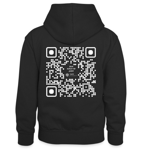 QR The New Internet Should not Be Blockchain Based W - Kids' Contrast Hoodie