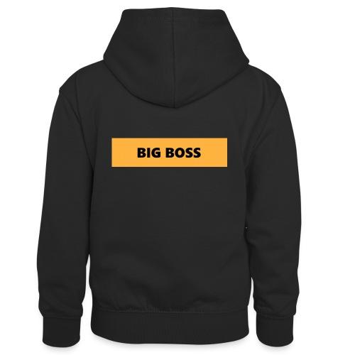 BIG BOSS - Lasten kontrastivärinen huppari