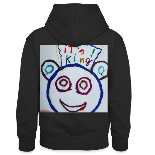 de panda beer - Teenager contrast-hoodie/kinderen contrast-hoodie