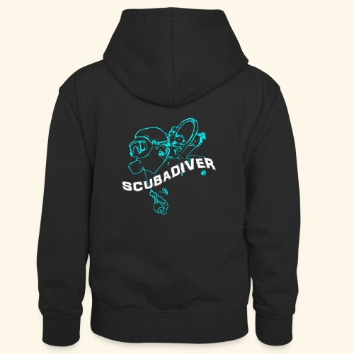 ScubaDiverShirt001 - Teenager contrast-hoodie/kinderen contrast-hoodie