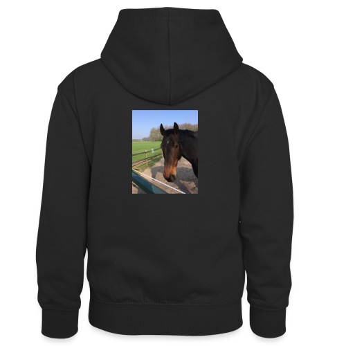 Met bruin paard bedrukt - Teenager contrast-hoodie/kinderen contrast-hoodie