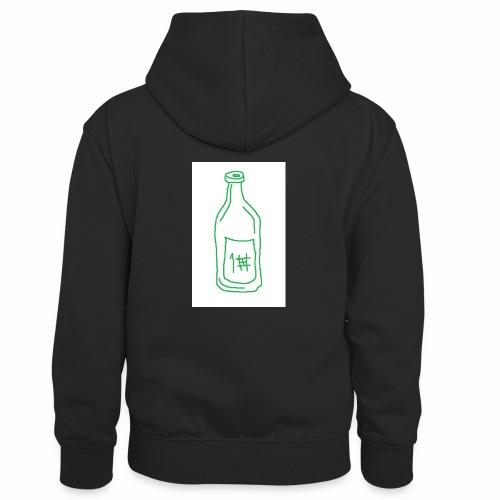 Alkoholi - Lasten kontrastivärinen huppari