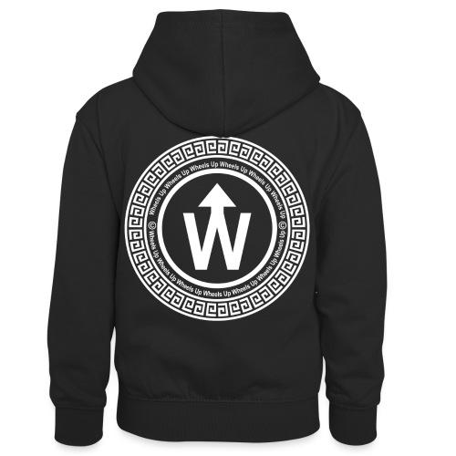 wit logo transparante achtergrond - Teenager contrast-hoodie/kinderen contrast-hoodie