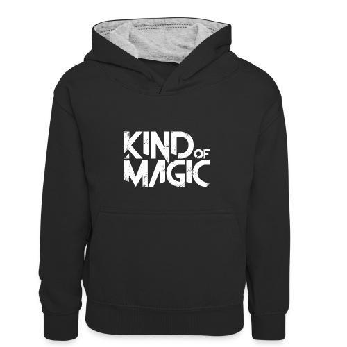 KIND of MAGIC white - Kinder Kontrast-Hoodie