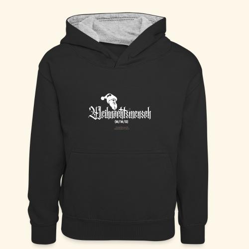 Geek T-Shirt lustiger Spruch Gendering LBGTQIA - Kinder Kontrast-Hoodie