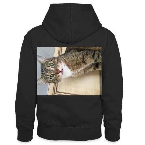 Kotek - Dziecięca bluza z kontrastowym kapturem