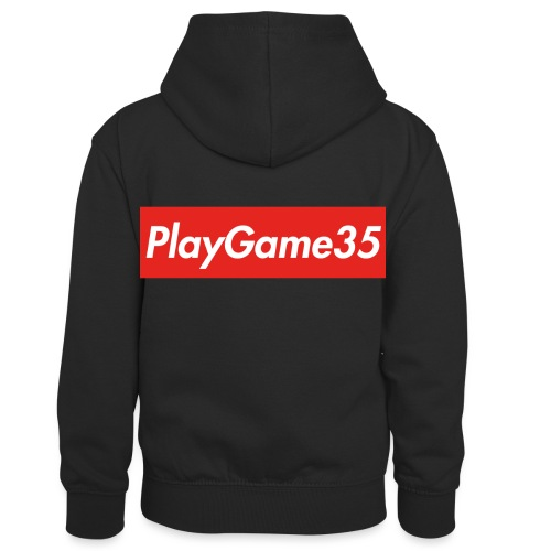 PlayGame35 - Felpa con cappuccio in contrasto cromatico per bambini
