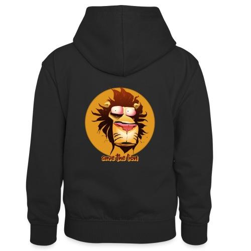 Print leeuwenkop - Teenager contrast-hoodie/kinderen contrast-hoodie