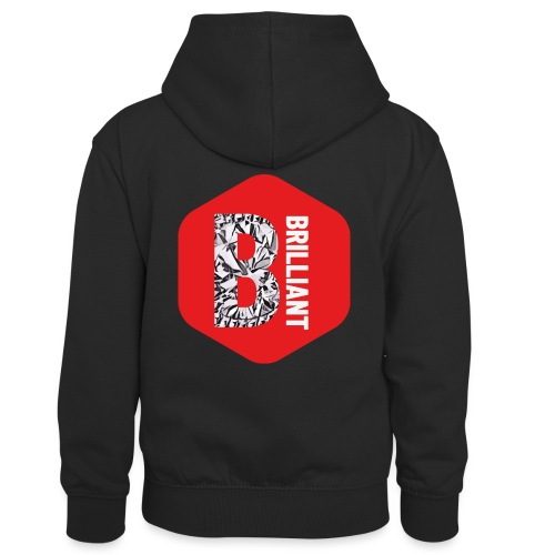 B brilliant red - Teenager contrast-hoodie/kinderen contrast-hoodie