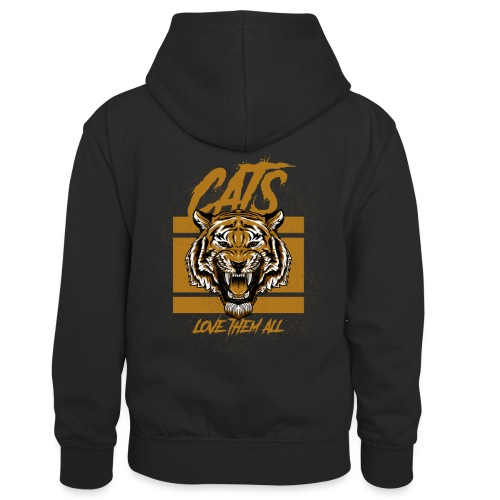 Cats, love them all - Teenager contrast-hoodie/kinderen contrast-hoodie