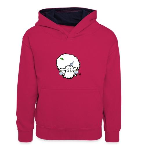 Mouton de Noël - Sweat à capuche contrasté Enfant