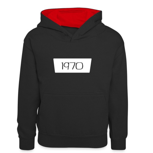 1970 - Teenager contrast-hoodie/kinderen contrast-hoodie
