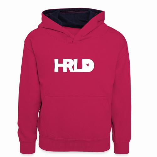 HRLD White Logo - Lasten kontrastivärinen huppari