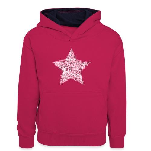 Estrella blanca - Sudadera con capucha para niños