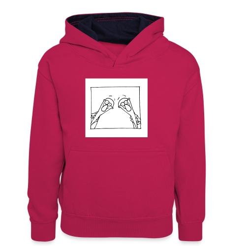 w14 oni - Dziecięca bluza z kontrastowym kapturem