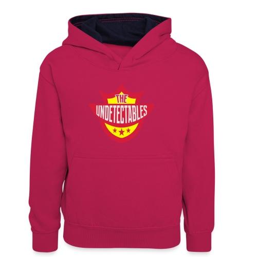 Undetectables voorkant - Teenager contrast-hoodie/kinderen contrast-hoodie