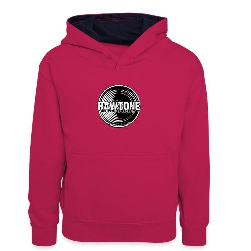 Rawtone Records - full logo - Kids' Contrast Hoodie