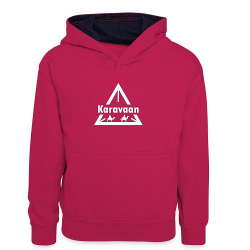 Karavaan White (High Res) - Teenager contrast-hoodie/kinderen contrast-hoodie