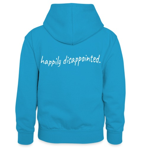 happily disappointed white - Kids' Contrast Hoodie