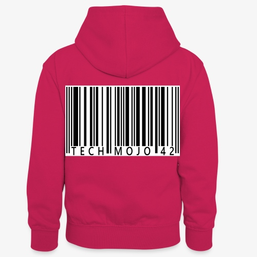 TM graphic Barcode Answer to the universe - Kids' Contrast Hoodie