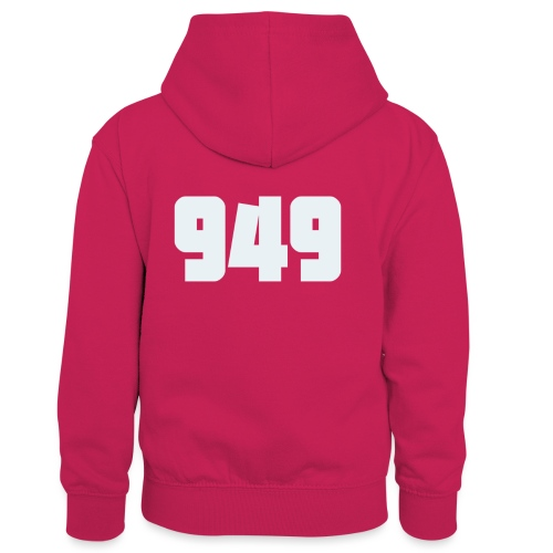 949withe - Kinder Kontrast-Hoodie