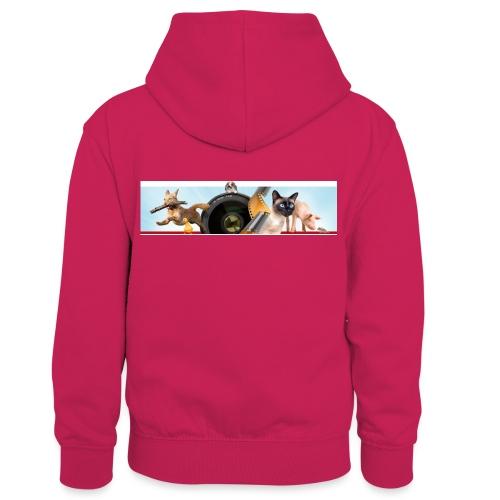 Animaux logo - Teenager contrast-hoodie/kinderen contrast-hoodie