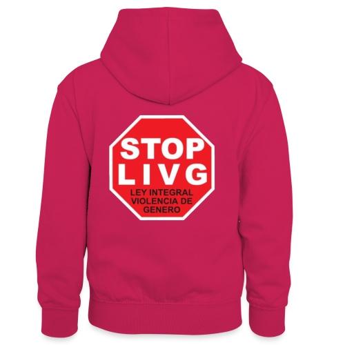 Stop LIVG Ley integral de violencia de Género - Sudadera con capucha para niños