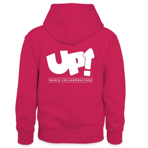 Up Dance White Logo - Kids' Contrast Hoodie