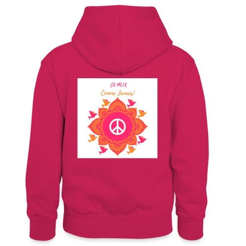 Ca paix comme jamais! - Sweat à capuche contrasté Enfant