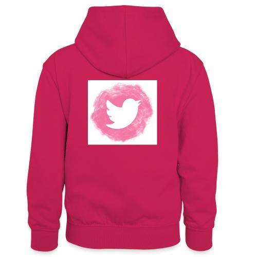 pink twitt - Kids' Contrast Hoodie